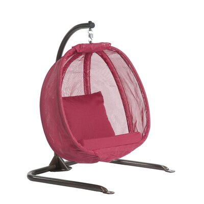 Junior Egg Swing Chair with Stand Color: Red