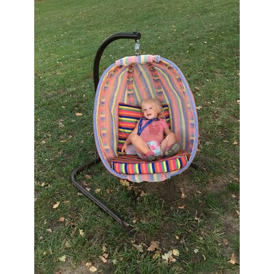 Striped  Junior Swing Chair with Stand