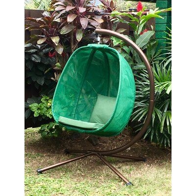Egg Swing Chair with Stand Color: Forest Green