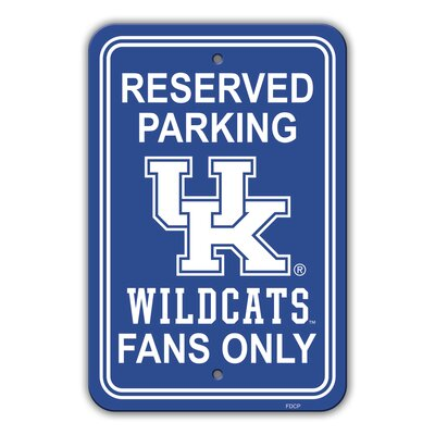 NCAA Plastic Parking Sign NCAA Team: University of Kentucky