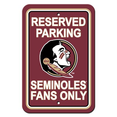 NCAA Plastic Parking Sign NCAA Team: Florida State University