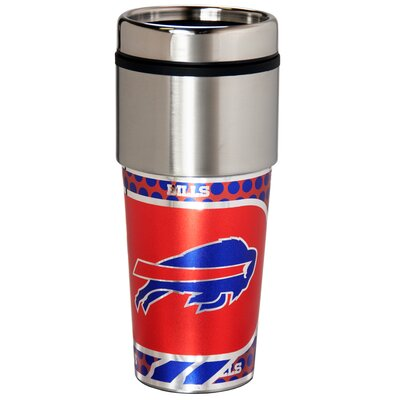 NFL Stainless Steel Travel 16 oz. Insulated Tumbler NFL Team: Buffalo Bills 46523