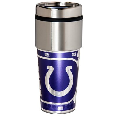 NFL Stainless Steel Travel 16 oz. Insulated Tumbler NFL Team: Indianapolis Colts 46524