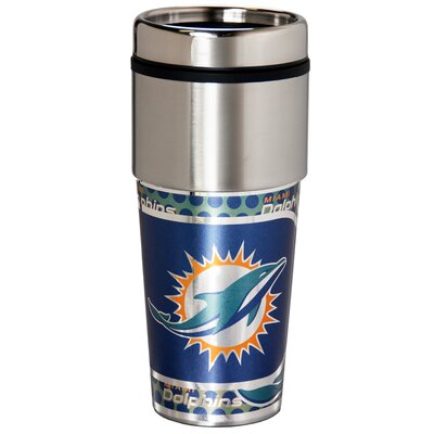 NFL Stainless Steel Travel 16 oz. Insulated Tumbler NFL Team: Miami Dolphins 46537