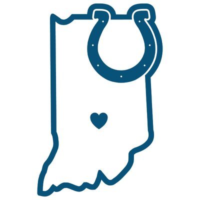NFL Home State Decal NFL Team: Indianapolis Colts Home 46824