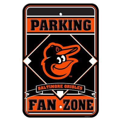 MLB Plastic Parking Sign MLB Team: Baltimore Orioles