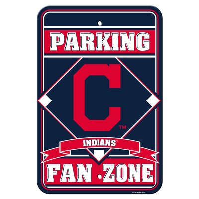 MLB Plastic Parking Sign MLB Team: Cleveland Indians