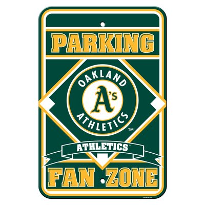 MLB Plastic Parking Sign MLB Team: Oakland Athletics