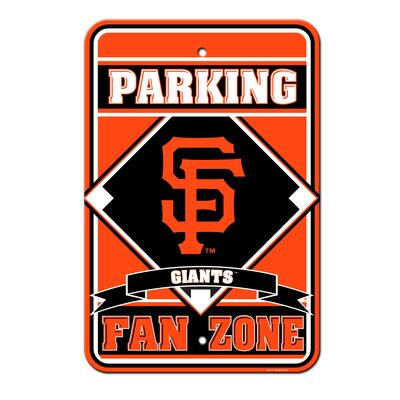 MLB Plastic Parking Sign MLB Team: San Francisco Giants
