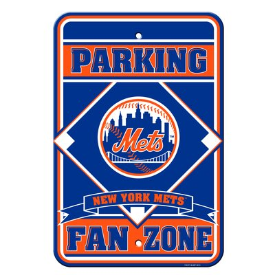 MLB Plastic Parking Sign MLB Team: New York Mets