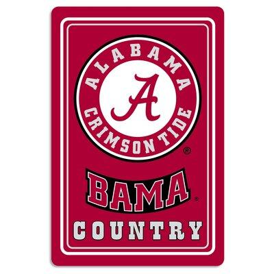 NCAA Metal Parking Sign NCAA Team: University of Alabama
