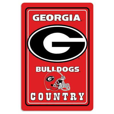 NCAA Metal Parking Sign NCAA Team: University of Georgia