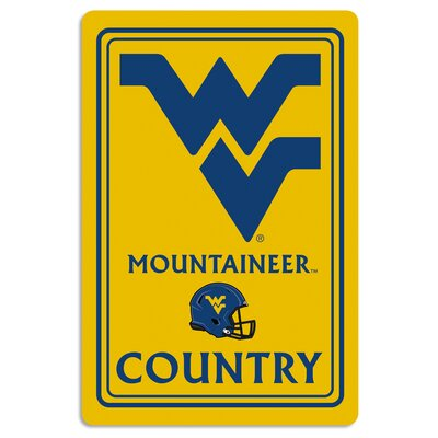 NCAA Metal Parking Sign NCAA Team: West Virginia University