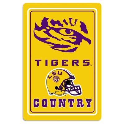 NCAA Metal Parking Sign NCAA Team: Louisiana State University