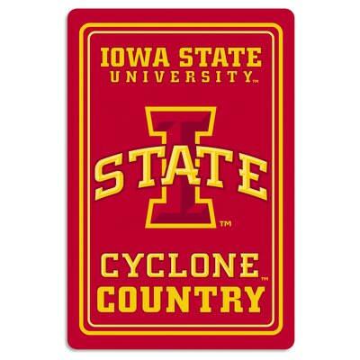 NCAA Metal Parking Sign NCAA Team: Iowa State University