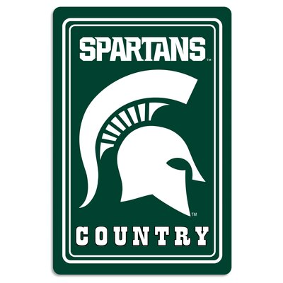 NCAA Metal Parking Sign NCAA Team: Michigan State University