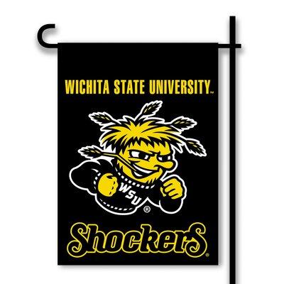 NCAA 2-Sided 1'6 x 1 ft. Garden Flag NCAA Team: Wichita State Shockers 83090