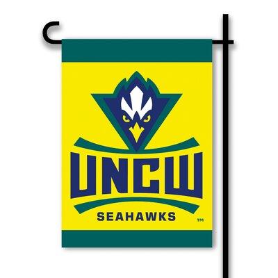 NCAA 2-Sided 1'6 x 1 ft. Garden Flag NCAA Team: University of North Carolina Wilmington Seahawks 83177