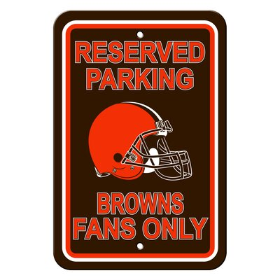 NFL Plastic Reserved Parking Sign NFL Team: Cleveland Browns