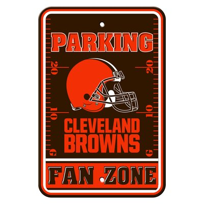 NFL Plastic Fan Zone Parking Sign NFL Team: Cleveland Browns