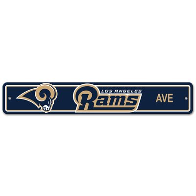 NFL Plastic Street Sign NFL Team: Los Angeles Rams Country
