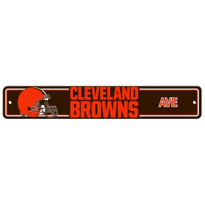 NFL Plastic Street Sign NFL Team: Cleveland Browns Country
