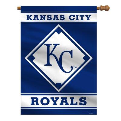 MLB House Polyester 3'4 x 2'4 ft. Banner MLB Team: Kansas City Royals 64607B