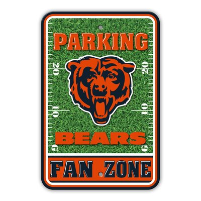 NFL Plastic Fan Zone Parking Sign NFL Team: Chicago Bears