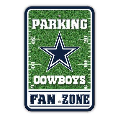 NFL Plastic Fan Zone Parking Sign NFL Team: Dallas Cowboys