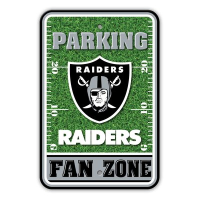 NFL Plastic Fan Zone Parking Sign NFL Team: Oakland Raiders