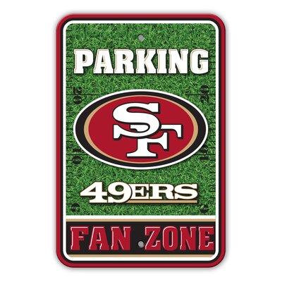 NFL Plastic Fan Zone Parking Sign NFL Team: San Franscisco 49ers