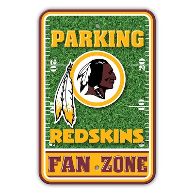 NFL Plastic Fan Zone Parking Sign NFL Team: Washington Redskins