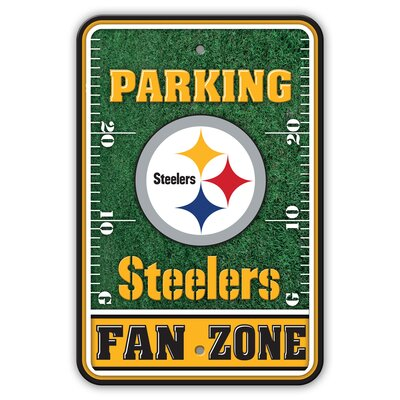 NFL Plastic Fan Zone Parking Sign NFL Team: Pittsburgh Steelers