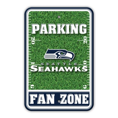 NFL Plastic Fan Zone Parking Sign NFL Team: Seattle Seahawks