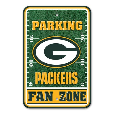 NFL Plastic Fan Zone Parking Sign NFL Team: Green Bay Packers
