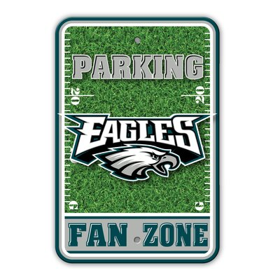 NFL Plastic Fan Zone Parking Sign NFL Team: Philadelphia Eagles
