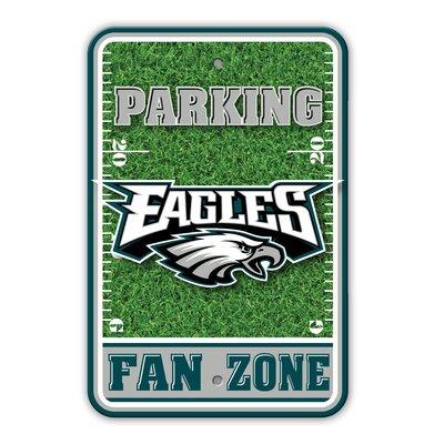 NFL Plastic Fan Zone Parking Sign NFL Team: Philadelphia Eagles