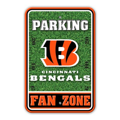 NFL Plastic Fan Zone Parking Sign NFL Team: Cincinnati Bengals