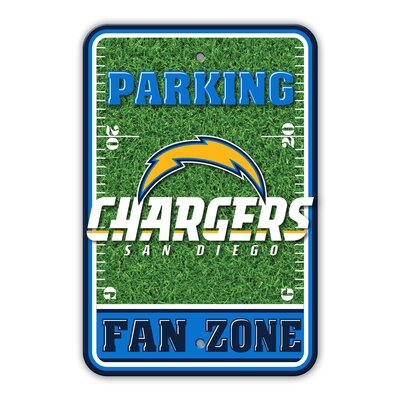 NFL Plastic Fan Zone Parking Sign NFL Team: San Diego Chargers