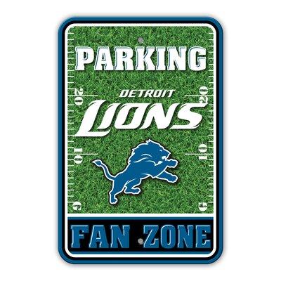 NFL Plastic Fan Zone Parking Sign NFL Team: Detroit Lions