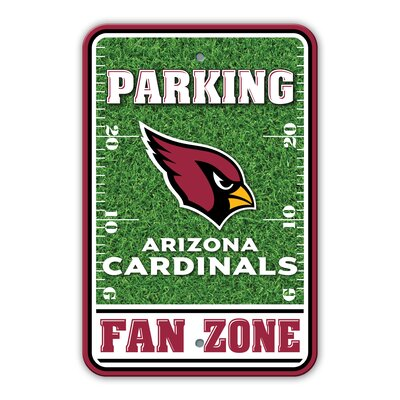 NFL Plastic Fan Zone Parking Sign NFL Team: Arizona Cardinals