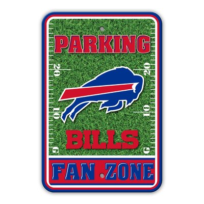 NFL Plastic Fan Zone Parking Sign NFL Team: Buffalo Bills
