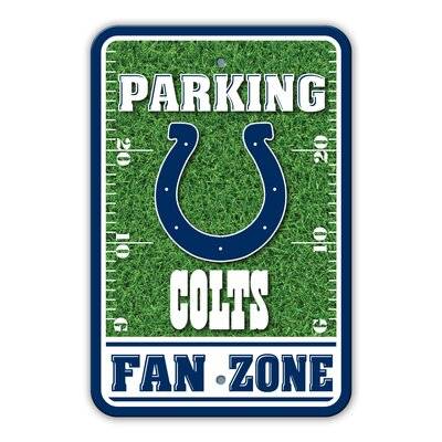 NFL Plastic Fan Zone Parking Sign NFL Team: Indianapolis Colts