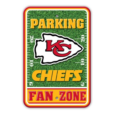 NFL Plastic Fan Zone Parking Sign NFL Team: Kansas City Chiefs