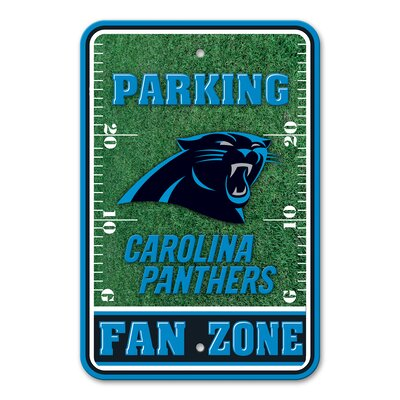 NFL Plastic Fan Zone Parking Sign NFL Team: Carolina Panthers