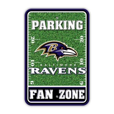 NFL Plastic Fan Zone Parking Sign NFL Team: Baltimore Ravens
