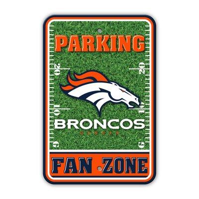 NFL Plastic Fan Zone Parking Sign NFL Team: Dever Broncos