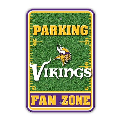 NFL Plastic Fan Zone Parking Sign NFL Team: Minnesota Vikings