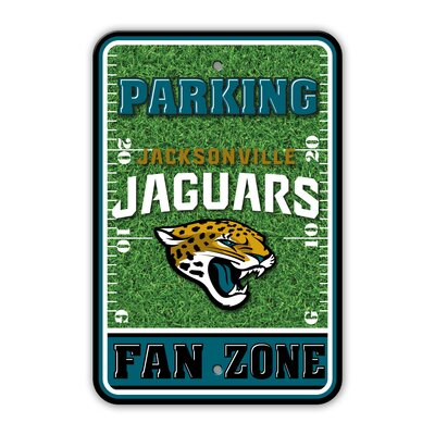 NFL Plastic Fan Zone Parking Sign NFL Team: Jacksonville Jaguars