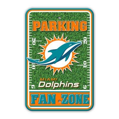 NFL Plastic Fan Zone Parking Sign NFL Team: Miami Dolphins
